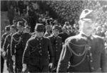 Japanese officers arriving at the Japanese surrender ceremony at the Forbidden City, Beiping, China, 10 Oct 1945, photo 5 of 5