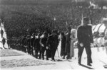 Japanese officers arriving at the Japanese surrender ceremony at the Forbidden City, Beiping, China, 10 Oct 1945, photo 3 of 5