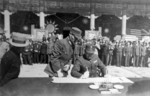General Sun Lianzhong signing the Japanese surrender document, Forbidden City, Beiping, China, 10 Oct 1945