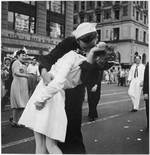 The famous kiss at Times Square, New York, New York, United States, 14 Aug 1945