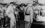 Xu Yongchang signing the surrender document on behalf of China aboard USS Missouri, Tokyo Bay, Japan, 2 Sep 1945, photo 4 of 5