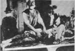 Autopsy being performed on a Japanese civilian victim of the Jinan Incident, Jinan, Shandong, China, circa 3 May 1928, photo 1 of 3