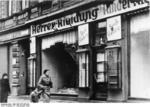 Jewish business destroyed during Kristallnacht, Magdeburg, Germany, 9 Nov 1938, photo 2 of 3