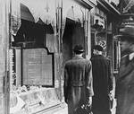 A Jewish-owned business vandalized during Kristallnacht, 11 Nov 1938