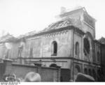 Damaged Orthodox Synagogue on Herzog-Rudolf-Straße in Munich, Germany, 9 Nov 1938, photo 1 of 2