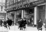 Jewish business destroyed during Kristallnacht, Magdeburg, Germany, 9 Nov 1938, photo 1 of 3