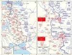 Map depicting front lines in Eastern Europe and the Battle of Kursk, 4 Jul-1 Aug 1943