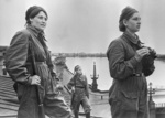 Female aircraft spotters on the roof of a Leningrad building, Russia, May 1942