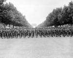 Troops of US 28th Division parading down the Champs Elysees, Paris, France, 29 Aug 1944, Photo 1 of 2.
