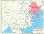 Map marking major Japanese campaigns in China in 1937