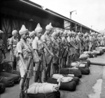 Newly-arrived Indian Commonwealth troops at Singapore, Nov 1941