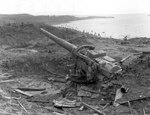 Japanese six-inch battery on Chonito Cliff, Asan beachhead, Guam, Mariana Islands, 5 Oct 1944