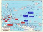 Map detailing Allied advances in New Guinea and the Mariana Islands, 22 Apr-24 Jul 1944