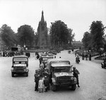 Bedford MWD trucks and other vehicles of the 4th Wiltshire Regiment, British 43rd Division, Valkenswaard, the Netherlands, 21 Sep 1944