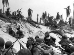 US Marines on the beaches of Eniwetok, Marshall Islands, 17 Feb 1944