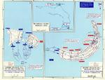Map depicting the invasion of Kwajalein Atoll, Marshall Islands, 31 Jan-4 Feb 1944