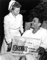 VT-8 survivor Ensign George Gay at Pearl Harbor Naval Hospital, 7 Jun 1942