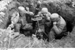 German paratroopers with 8 cm GrW 34 mortar fighting near Cassino, Italy, 1944