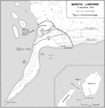 Map showing the Morotai landings on 15 Sep 1944
