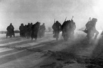 Surrendered German troops near Moscow, Russia, 27 Dec 1941