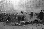 Russian civilians digging trenches in Moscow, Russia, 15 Nov 1941