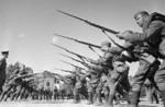 Soldiers of the Soviet Voroshilov Regiment in training, Moscow, Russia, 30 Aug 1941