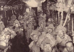 Interior of a Japanese troop transport train, northeastern China, date unknown