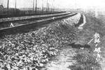 Railway sabotage site, near Mukden, northeastern China, 18 Sep 1931, photo 1 of 2