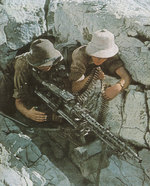 German machine gun nest, North Africa, circa 1941-1943