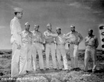 US Army African-American Air Corps officers, Fez, French Morocco, 12 May 1943: Lt Col Benjamin Davis, Capt H. Johnson, Capt Jones, Lt Thompson, Lt Carter, Lt Lawrence, Lt Currie