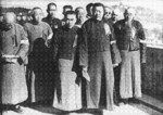 Inauguration ceremony of the Chinese collaborationist Nanjing Autonomous Commission, China, 1 Jan 1938, photo 1 of 2