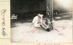 Chinese civilian bounded up at a train marshaling yard, Tianjin, China, Jul-Aug 1937; note Japanese censor