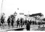 Japanese troops at the Wuxi Rail Station, Nanjing, China, Dec 1937