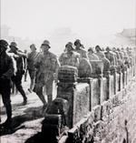 Chinese troops marching into Nanjing, China, late 1937