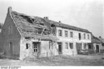 Destroyed buildings at Nemmersdorf, East Prussia, Germany, late Oct 1944, photo 3 of 6
