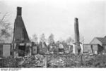 Destroyed buildings at Nemmersdorf, East Prussia, Germany, late Oct 1944, photo 6 of 6