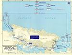 Map depicting the invasion of Hollandia, New Guinea, 22-26 Apr 1944