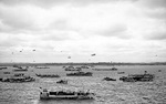 British warships surrounding the motor launch carrying King George VI, off Normandy, France, 16 Jun 1944