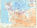 Map depicting Allied operations in the Normandy, France area, 13-30 Jun 1944