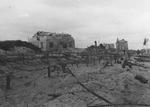 Damaged German defensive fortification at Courseulles-sur-Mer, France, Jun 1944