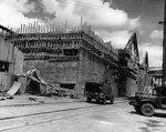 Unfinished German submarine pen at Cherbourg, France, 30 Jun 1944