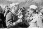General Fernando Soletti, Major Harald-Otto Mors, and others at Gran Sasso, Italy, 12 Sep 1943