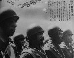 Japanese paratroopers, possibly preparing for the invasion of southern Sumatra, Dutch East Indies, Feb 1942