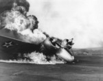Burning Marine SNB Expeditor aircraft, US Territory of Hawaii, 7 Dec 1941