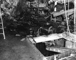 Damage on the main deck of seaplane tender USS Curtiss by a 250kg bomb during Pearl Harbor attack, 7 Dec 1941
