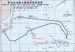 Japanese Pearl Harbor attack fleet track chart, 26 Nov-23 Dec 1941