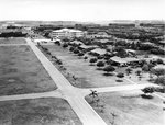 Hospital at Hickam Field, Oahu, US Territory of Hawaii, as seen from the base water tower, 1941