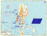 Map of the American campaign on Luzon, Philippine Islands, 9 Jan-4 Feb 1945