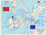 Map depicting US 6th Army operations at Leyte and Samar, Philippine Islands, 17 Oct-30 Dec 1944
