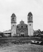 Destroyed church building, Mindoro, Philippine Islands, Jan 1945